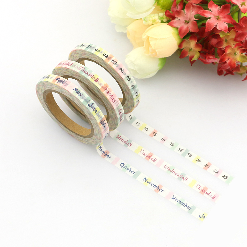 Купить с кэшбэком New 12 pieces 5mm*10m Skinny Foil Gold Slim Washi Tape Cute Design Stationery Adhesive Tape Washi Masking Tape