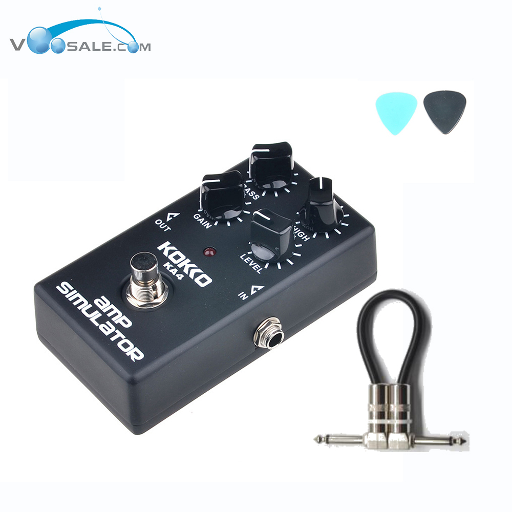 KOKKO KA4 Mini Vintage Electric Guitar Effect Pedals with Ture Bypass Guitar Parts High-Power Tube Guitara+Free Cable aroma adr 3 dumbler amp simulator guitar effect pedal mini single pedals with true bypass aluminium alloy guitar accessories