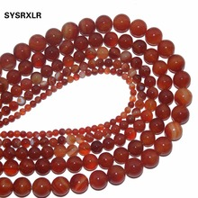 Wholesale Red Agate Beads Round Carnelian Selectable 4 6 8 10 12 MM Natural Stone Beads For Jewelry Making DIY Bracelet Necklace xinyao jewelry 40 4 6 810 12 14 diy f364 red agate beads