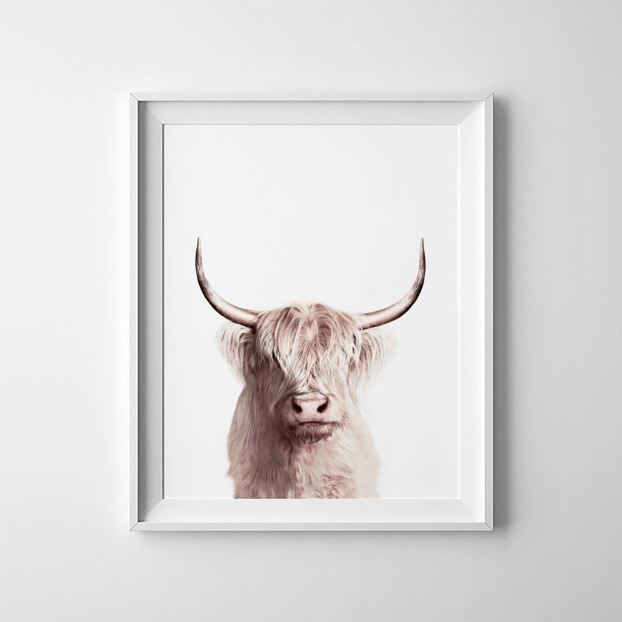 Živalski Buffalo Plakat slikarstvo Wall Art dekor, Bison Art platno tiskanje Sodobne živali Wall Picture Home Decoration