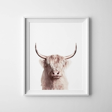 Animal Buffalo Poster Canvas Painting Wall Art Decor , Bison Art Canvas Print Modern Animals Wall Picture Home Decoration