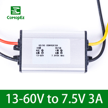 лучшая цена 13-60V to 7.5V 3A DC DC Voltage Converter IP68 Step Down Buck Module Power Supply for Light Cars Golf Carts Industrial Equipment