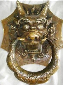 Chinese Old Chinese brass door knocker with dragon carved decoration BRASS factory outlets
