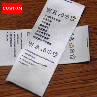 Factory Customized Garment Washing Label Ribbon Clothing Printed Personalized Shoes Labels Handmad Private Hand Made Labels