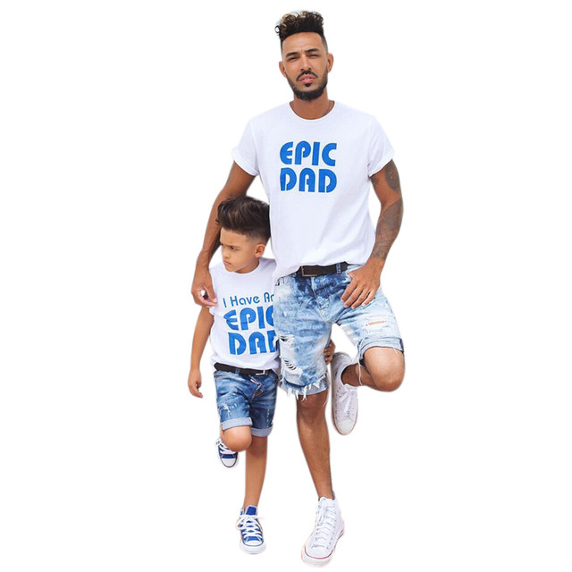 8979dd06 MUQEGW Summer Family Travel T-Shirt Set Daddy and Me Toddler Baby Kids Boys  Letter T shirt Tops Family Clothes Outfits