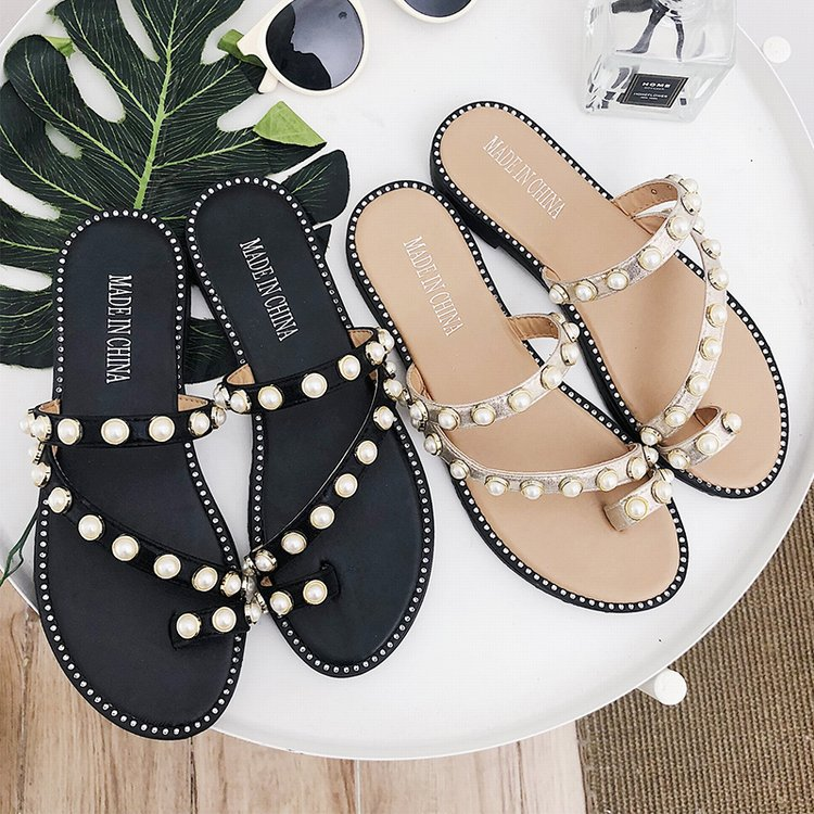 allmatch slipper Flat Fretwork Beach clip toe summer beach flip flops Slides pearl women outdoor slides tong woman outside  allmatch slipper Flat Fretwork Beach clip toe summer beach flip flops Slides pearl women outdoor slides tong woman outside