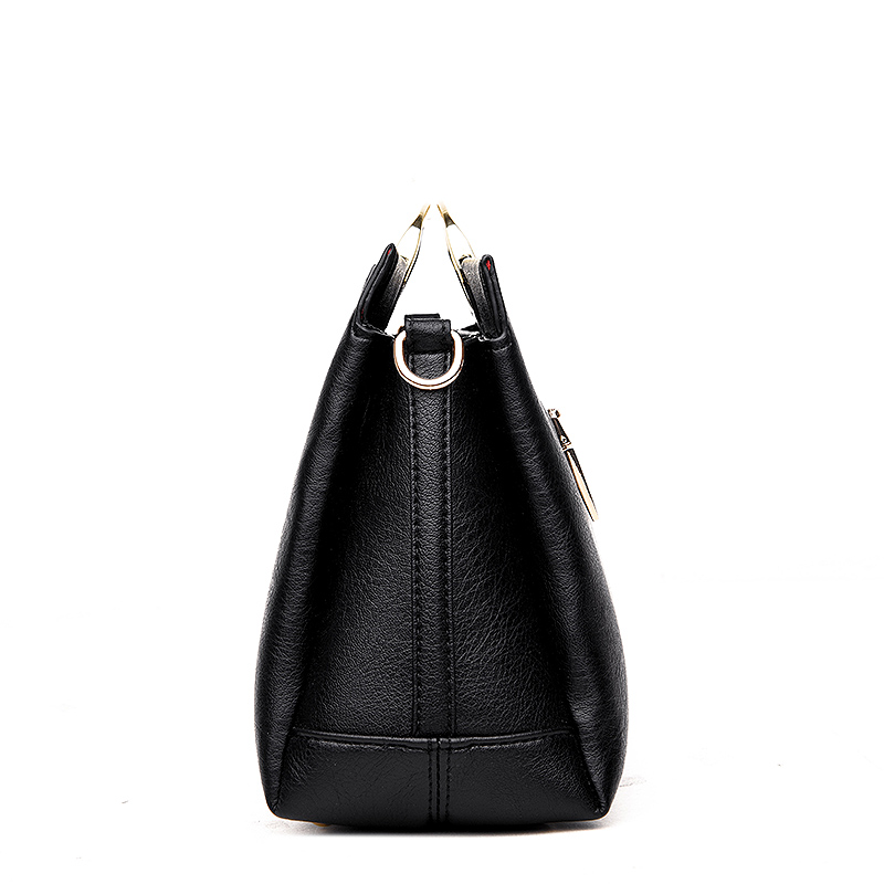 2018 Embroidery Women Handbags Luxury Designer Big Shoulder Bag Black High Quality Leather Hand Bag Ladies Tote Casual sac femme