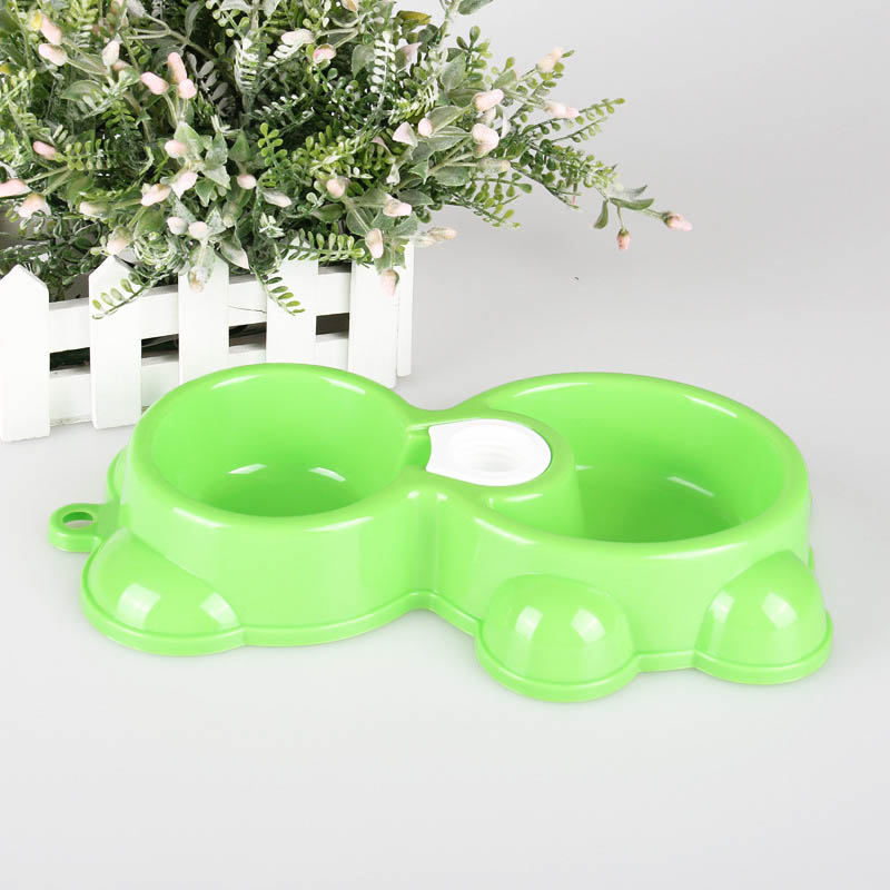 Healthy Colorful Dog Supplies Dual Port Dog Utensils Bowl Cat Drinking Fountain Pet Food Dish Automatic Water Dispenser Feeders