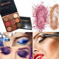 NEW 9 Colors Eyeshadow Shimmer Glitter Eye Shadow Powder Palette Matte Eyeshadow Cosmetic Makeup Health & Beauty