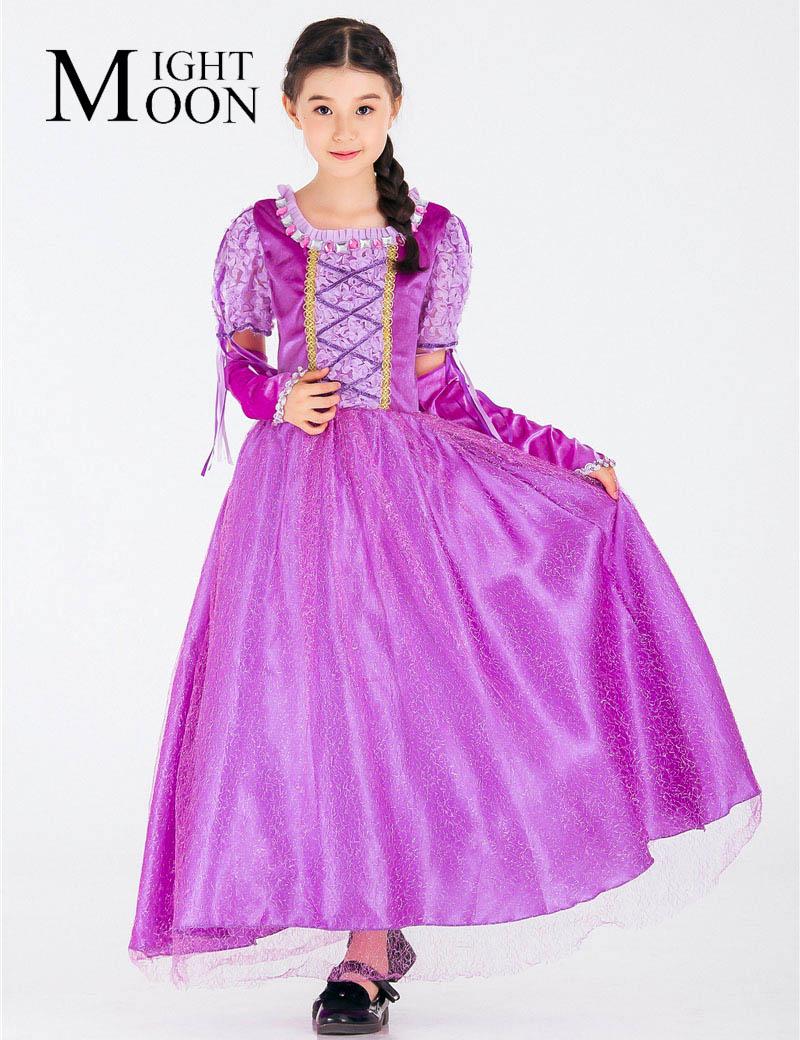 MOONIGHT Hot Sall Girls Sofia Princess Dress Kids Sophia Sleeping Beauty Party Dresses Child Girl Rapunzel Prom Purple Costume