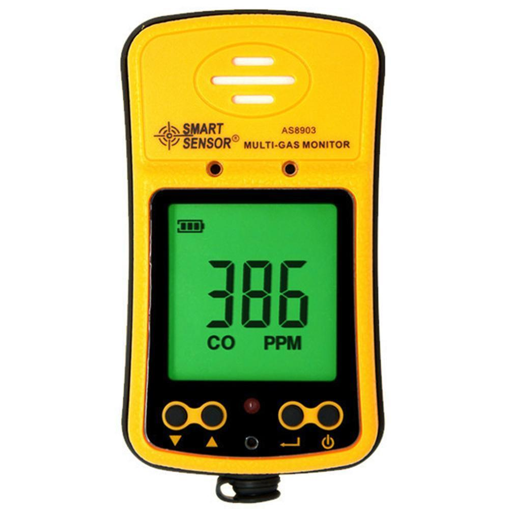 Gas Detector Tester CO 2in1 Handheld Hydration H2S Monitor Carbon Monoxide