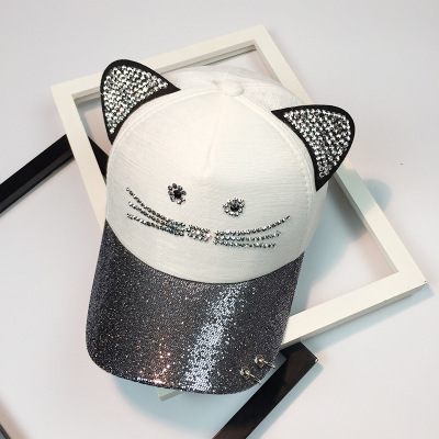 Summer Cute Cat Ear Sequins...