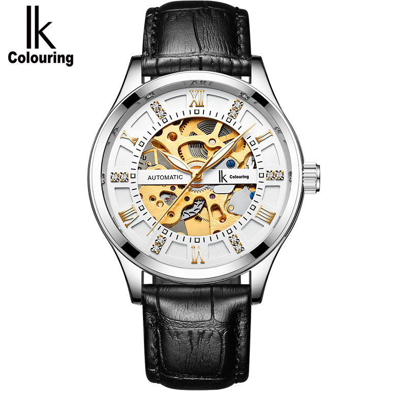 IK colouring Luxury Automatic Watch Men Skeleton Luminous Analog Mechanical Self Wind Watches Montre Automatique Homme IK colouring Luxury Automatic Watch Men Skeleton Luminous Analog Mechanical Self Wind Watches Montre Automatique Homme