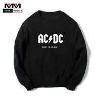 XS 3XL Unisex O Neck AC DC Rock Music Band Print Cool Long Sleeve Harajuku Pullovers