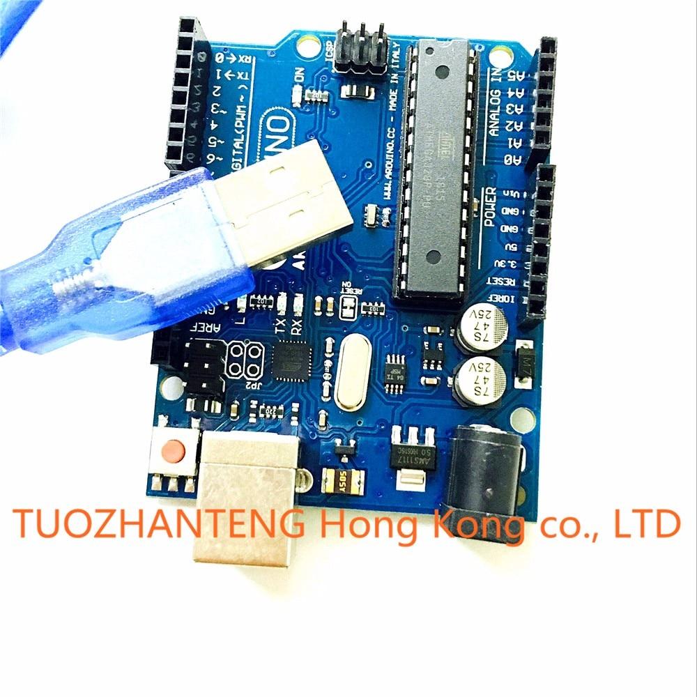 20set UNO R3 MEGA328P ATMEGA16U2 for Arduino Compatible + 20pcs USB Cable Free Shipping
