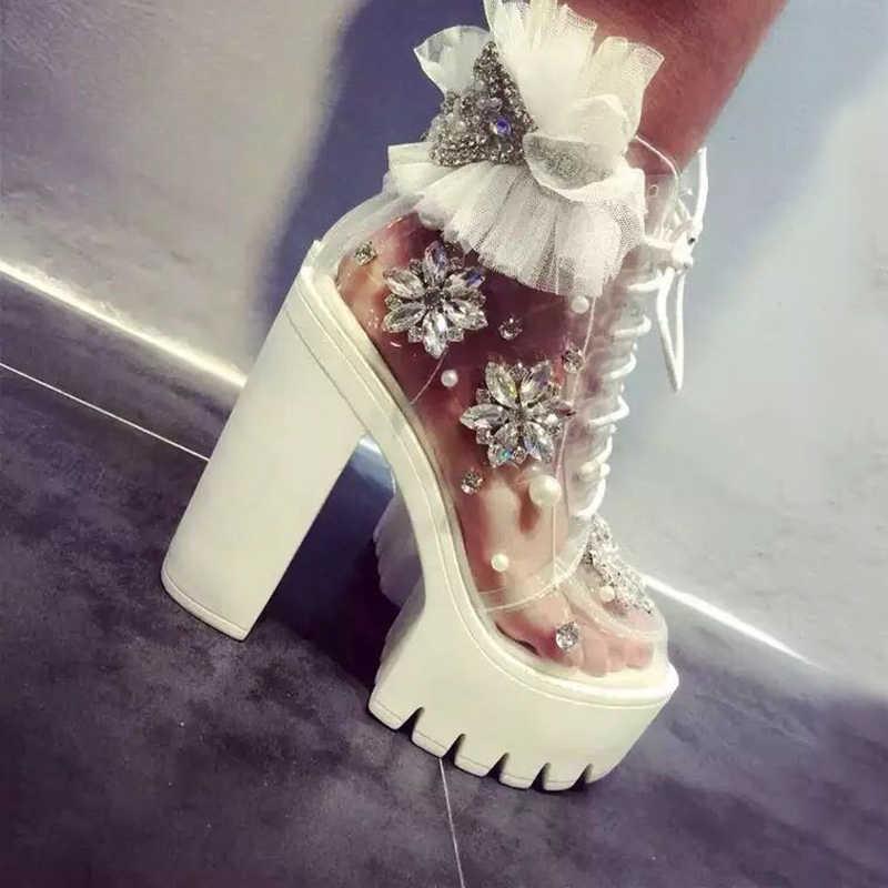 11b938dfec1 Carollabelly женские осенние ботинки ручной работы на толстом каблуке и  платформе