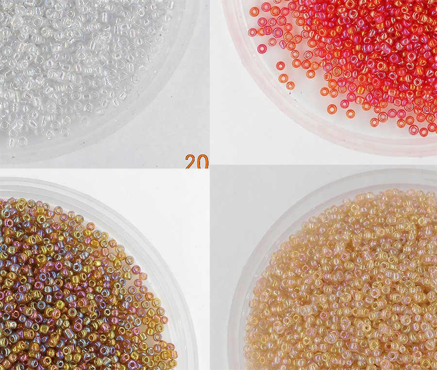 Супер маленький 2 мм чешский стеклянный бисер 1000 шт/партия цветной Блеск Круглый австрийский хрусталь отверстие бусины для DIY ювелирных изделий