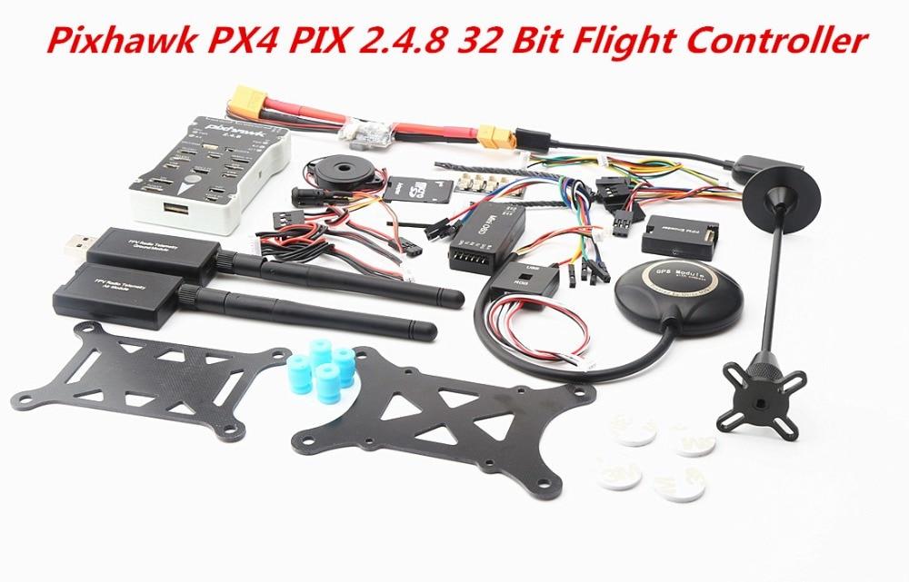 Pixhawk PX4 PIX 2.4.8 32 Bit Flight Controller + 433/915 Telemetrie + M8N GPS + Minim OSD + PM + sicherheit Schalter + Summer  Pixhawk PX4 PIX 2.4.8 32 Bit Flight Controller + 433/915 Telemetrie + M8N GPS + Minim OSD + PM + sicherheit Schalter + Summer