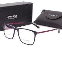 Top Designer Rubber Injection Women Mens Square Eyewear Frame Offical Retangular Myopia Light Flex Plastic Reading