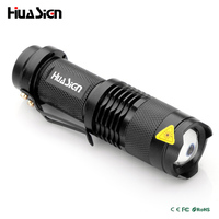 High Quality CREE Mini 3 Mode Waterproof LED Flashlight Portable Lights Zoomable Torch Light