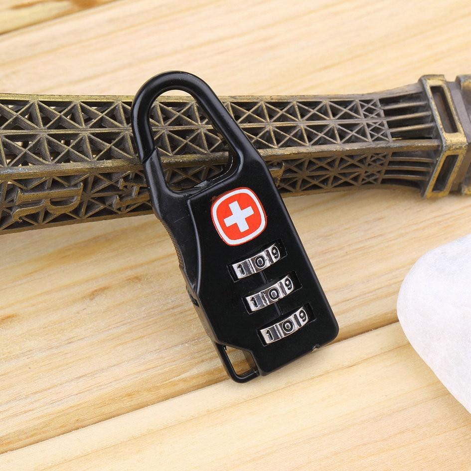 1pcs Swiss Cross Symbol Combination Safe Code Number Lock Padlock for Luggage Zipper Bag Backpack Bag