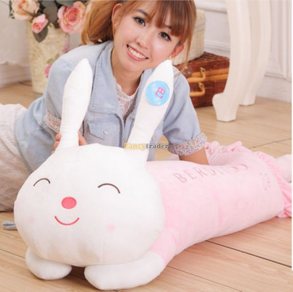 Fancytrader 47'' / 120cm Stuffed Plush Giant Cute Lying Sleepy Rabbit Bunny Toy, 3 Colors Available, Free Shipping FT50819 fancytrader new style giant plush stuffed kids toys lovely rubber duck 39 100cm yellow rubber duck free shipping ft90122