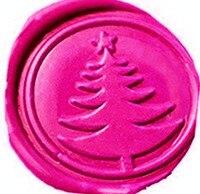 Vintage Christmas Tree Wedding Invitation Custom Picture Logo Wax Seal Sealing Stamp Sticks Spoon Gift Box