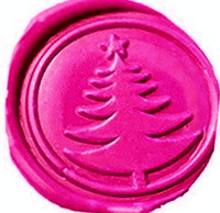 Vintage Christmas Tree Wedding Invitation Custom Picture Logo Wax Seal Sealing Stamp Sticks Spoon Gift Box