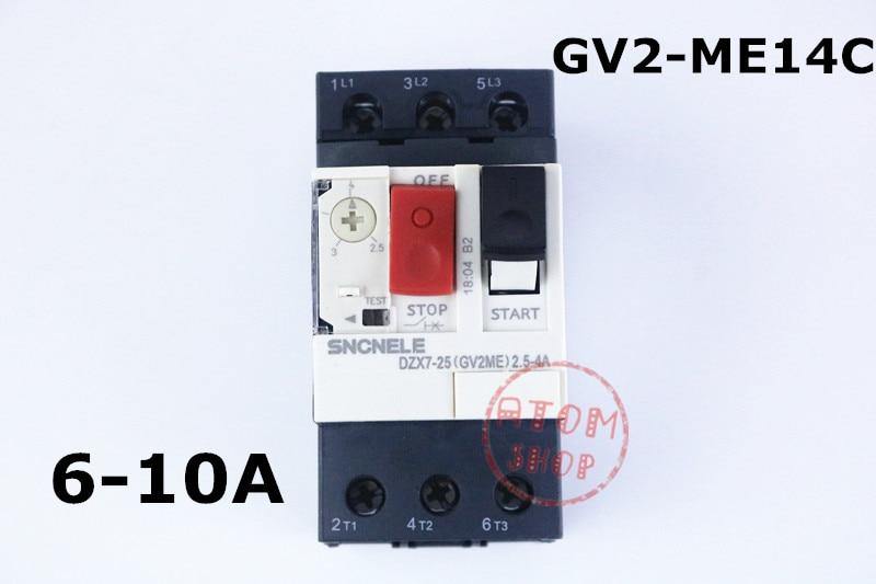 цена на GV2-ME14C 6-10A Motor circuit breaker GV2-ME14C 6-10A motor protection circuit breaker Press-button control