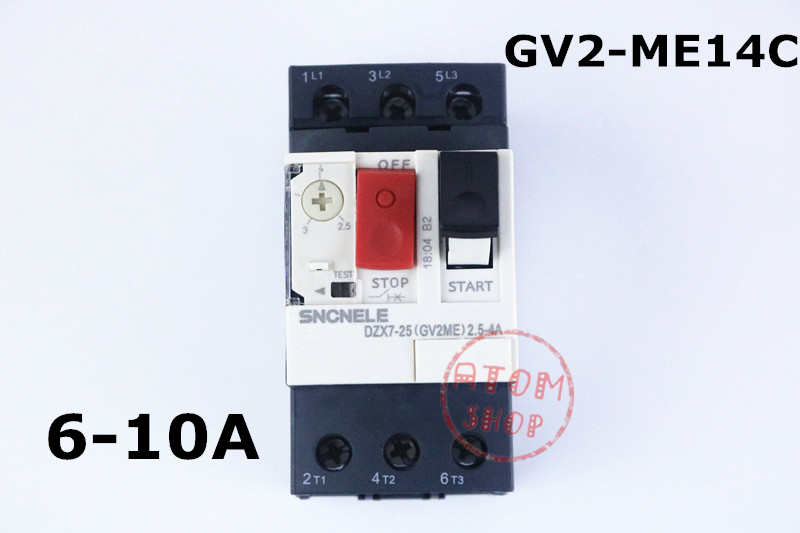 цена на GV2-ME14C 6.3-10A Motor circuit breaker GV2-ME14C 6.3-10A motor protection circuit breaker Press-button control