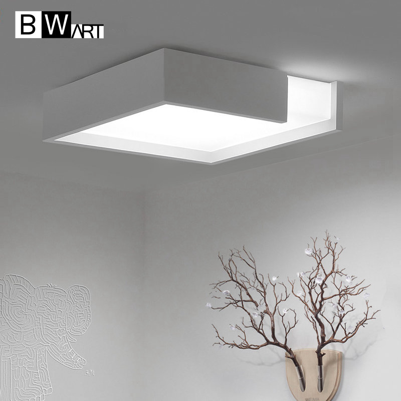 BWART Modern LED ceiling light The edge of the incomplete lamp wireless remote control LED store luxury decor lighting