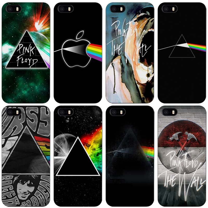 pink floyd Black Plastic Case Cover Shell for iPhone Apple 4 4s 5 5s SE 5c 6 6s 7 Plus
