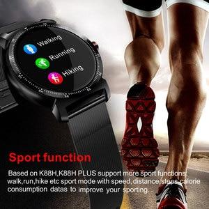 Image 5 - K88H 플러스 스마트 워치 HD 디스플레이 심장 박동 모니터 보수계 피트니스 트래커 남자 Smartwatch 안드로이드 아이폰에 연결