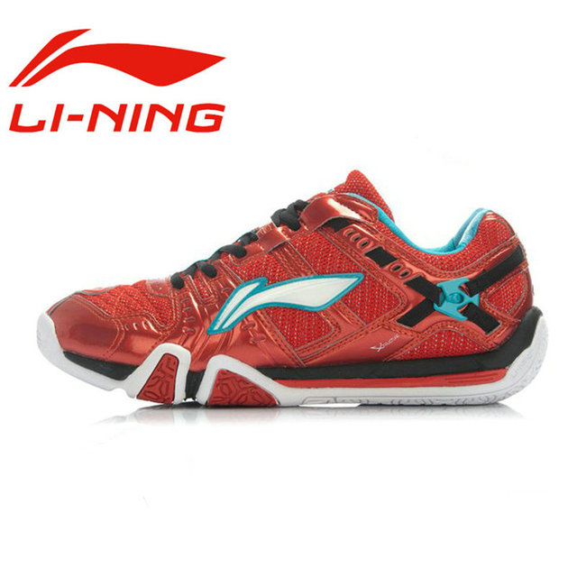 Li Ning - Zapatillas de bádminton de Material Sintético para hombre blanco blanco/rojo, color blanco, talla 40