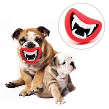 Funny Squeaky Dog Toy – Devil's Lips Chewing Toy