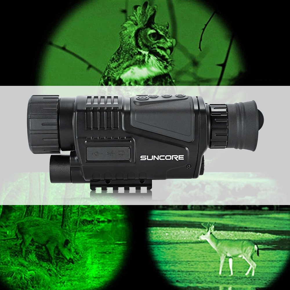 5 x 40 Infrared Digital Night Vision Telescope High Magnification Monocular 200m Veiw with Video Output Function for Hunting 5x40 hunting 200m night vision telescope with digital video camera infrared function for tactical optics monocular device