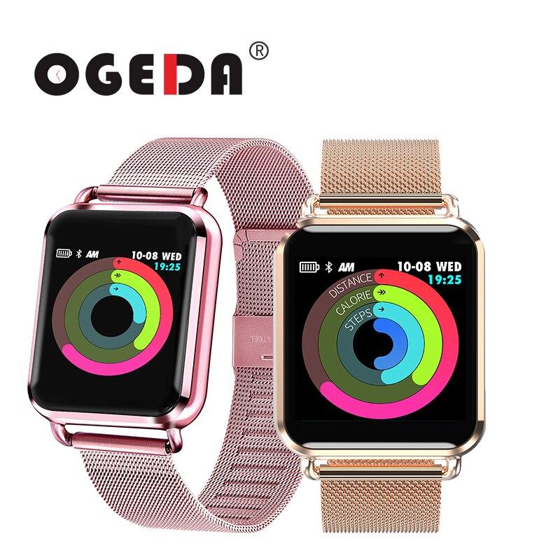 OGEDA montre intelligente pression artérielle oxygène sanguin moniteur de fréquence cardiaque montre de Sport hommes femmes Tracker montre de fitness connecter IOS Android