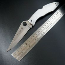 Newest C07P folding knife 9cr18mov blade C07 knife stainless steel Handle outdoor camping pocket knife