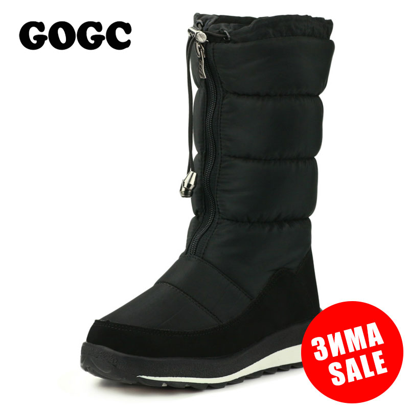 GOGC Russian Famous Brand Winter Boots for Women High Quality Women's Winter Shoes Female Snow Boots Comfortable Women Shoes