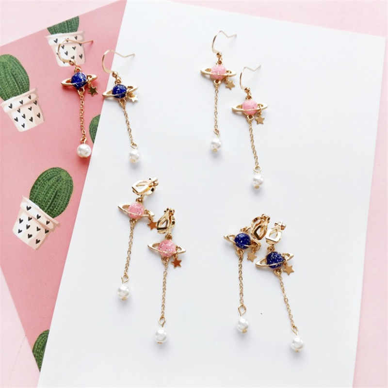 Pineapple Coconut Earrings Korean Romantic Holiday Fashion Wild Tide Female Accessories Earrings Ear Clip Female