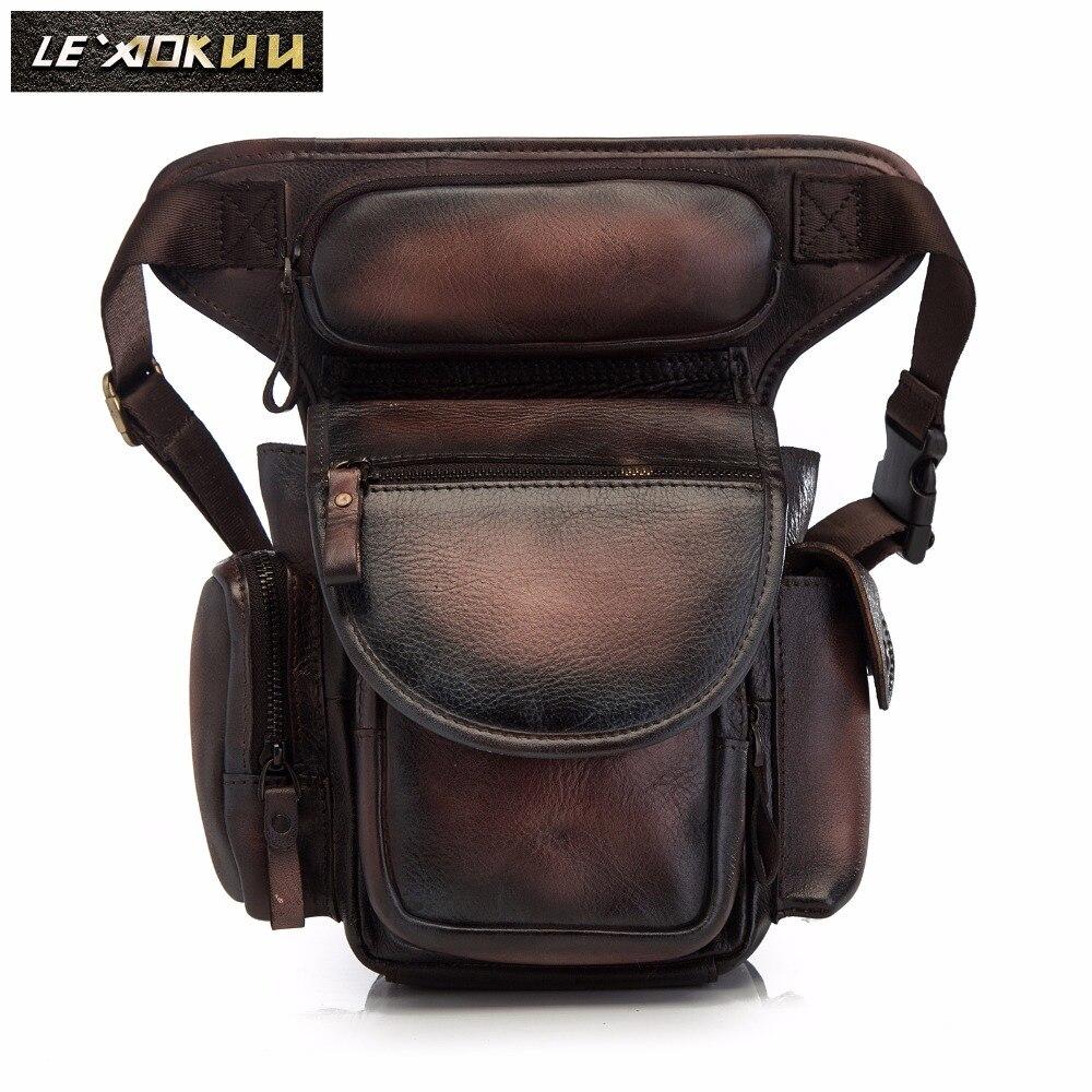 100% QualitäT Qualität Leder Männer Design Casual Messenger Schulter Sling Tasche Mode Multifunktions Taille Gürtel Pack Drop Bein Tasche Pouch 3109db