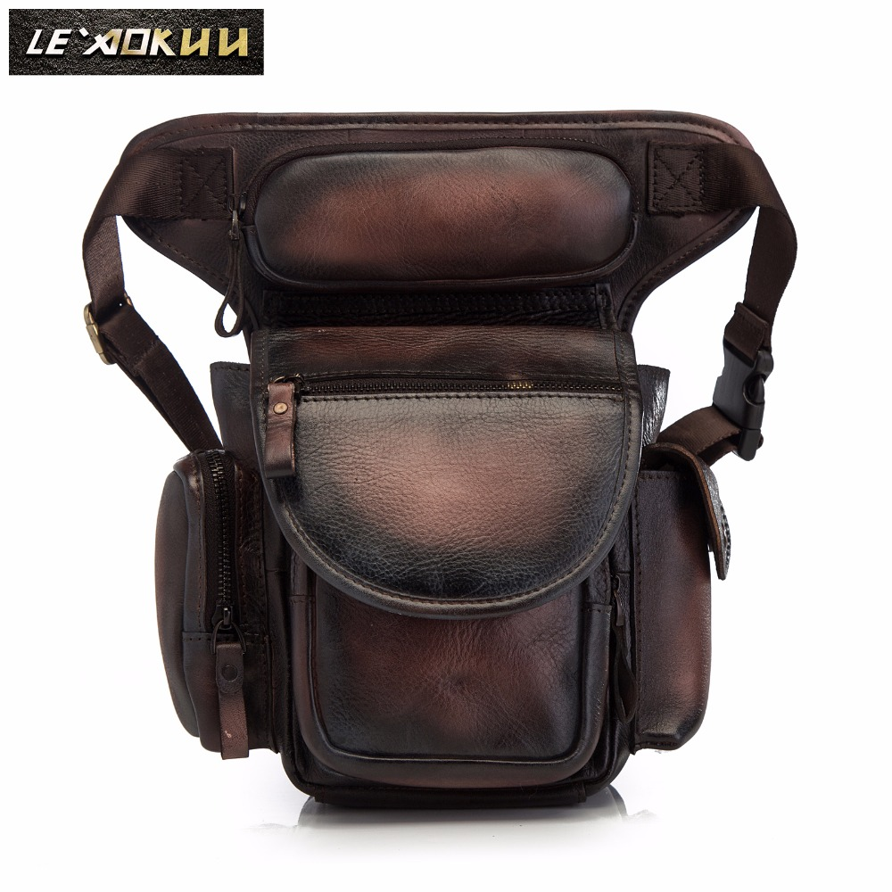 Quality Leather Men Design Casual Messenger Shoulder Sling Bag Fashion Multifunction Waist Belt Pack Drop Leg Bag Pouch 3110b Sale Price Fine Jewelry