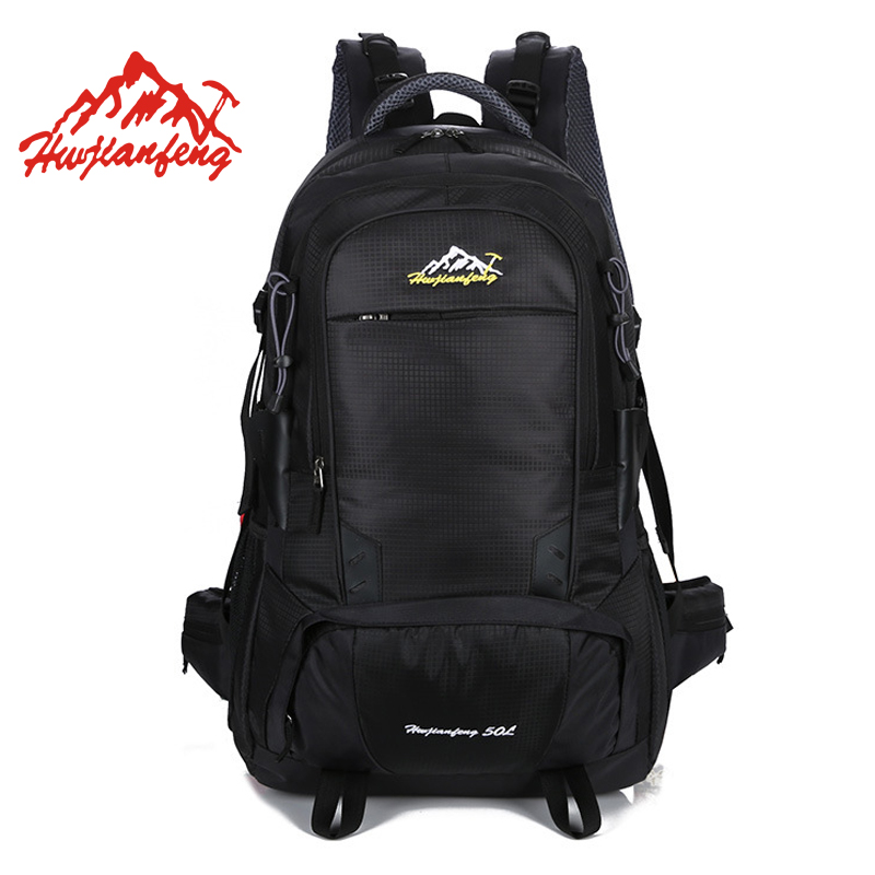 50L Sport Bag Trekking Climbing Hiking Outdoor Backpack Traveling Camping Bags Sports Backpacks Bicycle Waterproof Bag Men Women huwaijianfeng 50l outdoor sport traveling climbing backpack multifunctional hiking bag