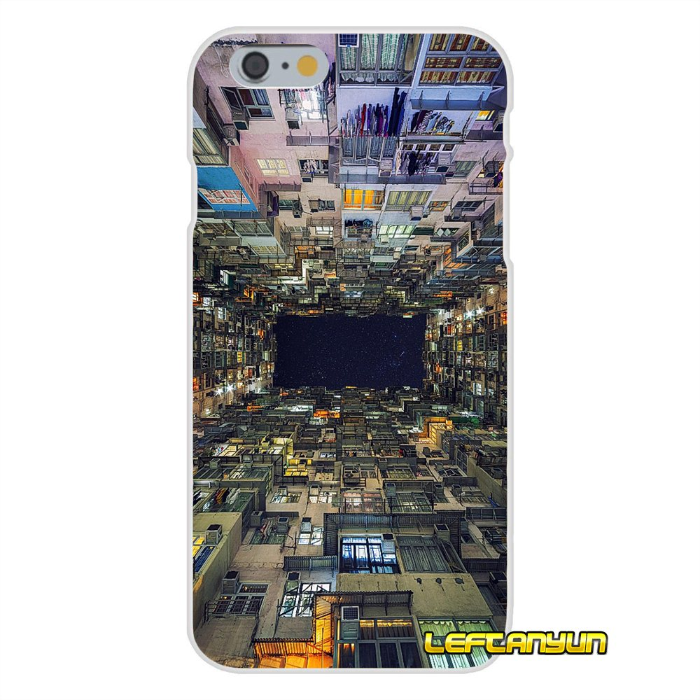 Accessories Phone Cases Covers For iPhone X 4 4S 5 5S 5C SE 6 6S 7 8 Plus Hong Kong Sunset Skyscraper City Bay
