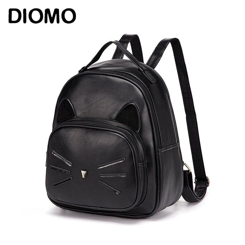 DIOMO Cute Cat Backpacks For Teenage Girls  Casual Day Pack Women Small Backpack Female Bagpack