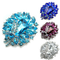 2016 Latest Women's Banquet Party Broach Blue Clear Rhinestone Crystal Butterfly Pin Brooch  NY79 7FZK 8A11