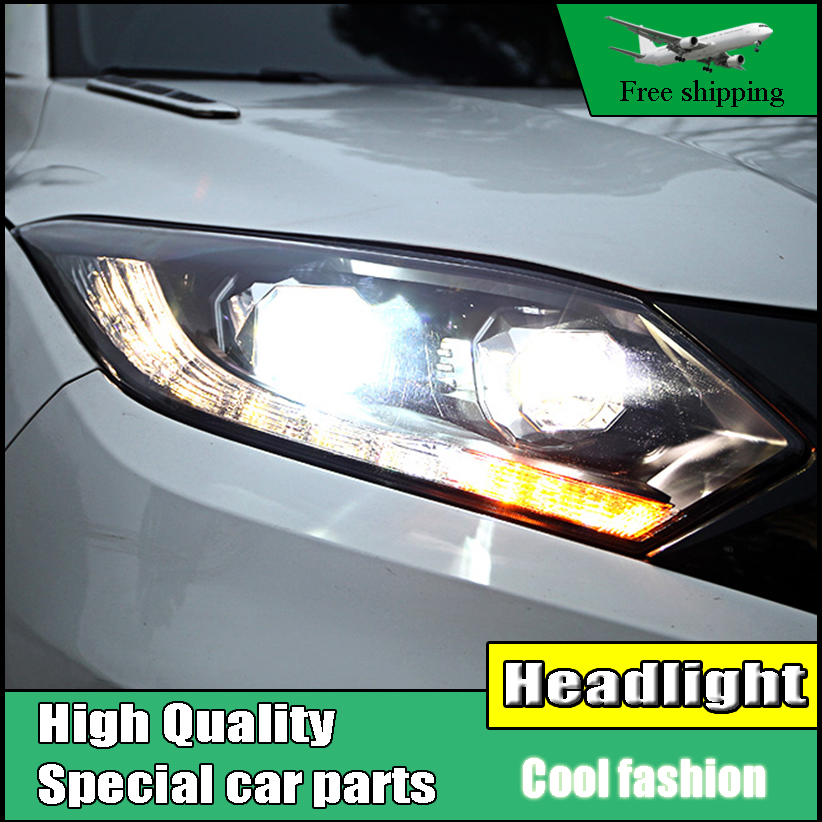 Car Styling Headlight Assembly For Honda HR-V HRV headlights 2015 2016 head lamp LED DRL front light Bi-Xenon Lens xenon HID