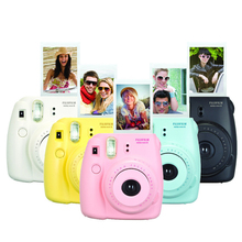 Fuji mini câmera de 8 filme instantâneo fujifilm fuji instax mini 8 foto Nova câmera 5 Cores Branco Amarelo Rosa Azul Red Hot Sale 2016