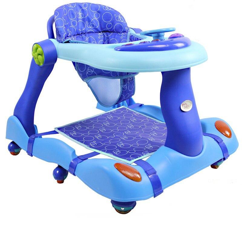 купить U-shape Folding Adjustable Baby Step Hand push Or Sit Anti Rollover Walker Baby Walking Assistant with Music Box For 6-18M Baby по цене 11076.11 рублей
