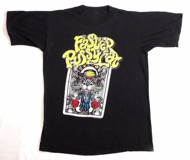 dff6e77f73a FASTER PUSSYCAT Reprint VTG T Shirt 80's Tour Concert 1989 GLAM SLEAZE METAL